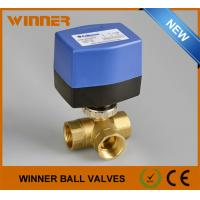 Quality DN15 Electric Actuated Ball Valve , ON/OFF Control Motorized Ball Valve 3 Way AC230V wholesale