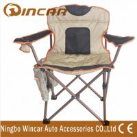 Quality 600D Polyester cloth folding Outdoor Camping Chairs for big beach wholesale