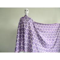 Quality Grape Purple African Swiss Lace Fabric Embroidered For Church Dress wholesale