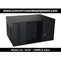 """Quality Line Array Speaker / 2x18"""" Horn Loaded 4ohm 1200W Subwoofer For Concert , Disco And Club wholesale"""