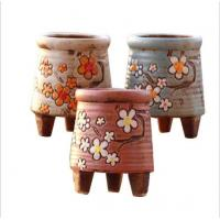Quality Korean garden pot flower decor hand-painted ceramic flower pots wholesale