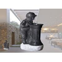 Quality Boy And Girl With LED Light Fountain Indoor And Outdoor Polyresin Material Garden Decoration  Water Fountain wholesale