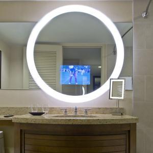 Buy cheap Waterproof Smart Mirror LCD Screen TV Illuminated Modern Bath Mirror 450cd/m2 from wholesalers