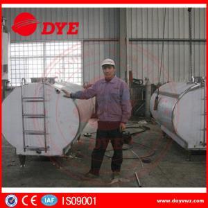 Quality Large Milk Tank Horizontial Milk Transportation Tank SS304 / 316L wholesale