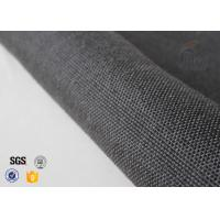 Cheap 800gsm Black Vermiculite Coated Fiberglass Fabric Thermal Insulation Materials for sale