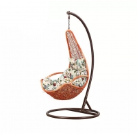 Quality H1240mm W800mm Rattan Egg Swing Chair , Rattan Egg Chair Outdoor All Weather Use wholesale