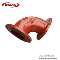 China BS EN545 ductile iron elbow pipe fitting for water on sale