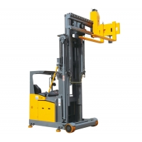 China 1500kg 3300lbs 1.5Ton Electric Lift Stacker Reach Truck Adjustable Steering Wheel on sale