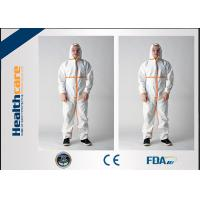Quality Microporous Disposable Hooded Coveralls Breathable White With Shoe Cover Anti - Dust wholesale