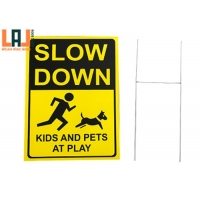 Rectangle 1000x1400mm Custom Reflective Aluminum Signs Slow Down Traffic Sign for sale