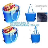 Quality promotional 16 cans insulated cooler tote bag outdoor picnic lunch freezable bag for camping beach travel bags, bagplast wholesale