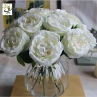 China UVG FRS67 Decoration ideas white artificial rose bouquet of flowers for wedding themes on sale