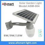 Quality 6W/9W/15W Solar Parking Lot LED Light Solar Security Light LED Street Light With Solar Panel Mount On Lamp Pole Post wholesale