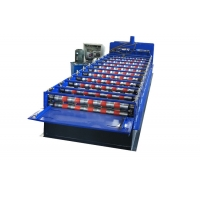 China 5.5kw 12m Min Aluminium Panel Roof Tile Roll Forming Machine on sale