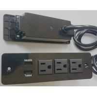 Quality 5V 2.4A & 1A  3 Way Desktop Power Outlet With Usb Charging For Tablet / Power Bank wholesale