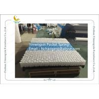China Mattress Pocket Spring Unit With White / Blue Colour Non Woven Fabric Cover on sale
