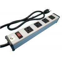 Quality Metal 4 Way Multi Outlet Power Strip With On Off Switch For Workshop / Office wholesale