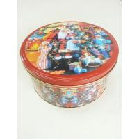 Quality Christmas Cookie Tin Storage Containers , Food Storage Cylindroid Small Tin Boxes wholesale