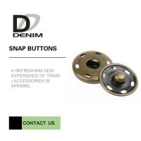 Quality Brass Custom Sew On Snap Buttons For Overcoat Down Jacket / Cotton - Padded Clothes wholesale