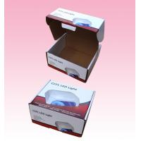 China custom F-flute corrugated Cardboard Packaging Boxes with Locking Lid for LED Light on sale