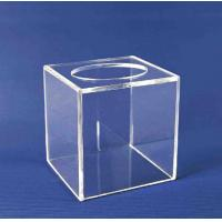 Quality Acrylic Storage Boxe , Clear Acrylic Suggestion Box 5mm x 150mm x150mm wholesale