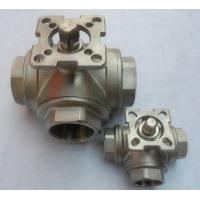 Quality 3 way full bore ball valve dn10 ,Stainless Steel valve with mounting pad wholesale