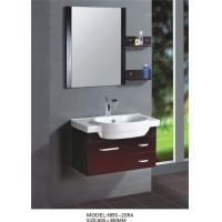 Quality Red grape wine square type Solid Wood Bathroom Cabinet custom made wholesale