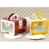 China Custom Print Ribbon Packing Cake Box Carton,Food containers cake box clear pet cake box transparent package china online on sale