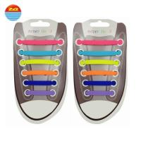 China Flat Waxed Silicone Gifts Shoe String Laces Custom Logo Durable And Waterproof on sale