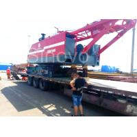Quality Red Color Low Ground Pressure Hydraulic Crawler Mounted Crane For Chemical Industry wholesale