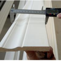 Quality Base moulding primed, 7/16''x3 1/4'' primed colonial baseboard wholesale