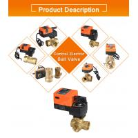 override ROHS Approved dn40 electric 3-way ball valve with manual