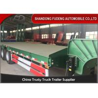 Quality Gooseneck Semi Low Bed Trailer , Heavy Equipment Low Loader Trailers wholesale
