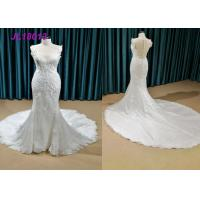 Quality Classical Pure White Princess Bride Wedding Dress For Elegantly Older Bridal Custom Made wholesale