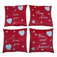 Quality Applique cushion, customized designs are accepted wholesale