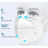 Quality Non-woven Fabric KN95 face mask  FFP2 disposable respirator anti dust face mask White 5 layers KN95 Face Mask wholesale