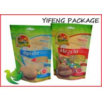 Buy cheap Oil Proof Green Ziplock Stand Up Pouches Gravure Printing For Food product