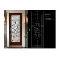 Quality Arctic Patterned Window Door Suit Decorative Frosted Glass Brass / Nickel / Patina wholesale