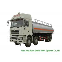 Quality SHACMAN 10 Wheeler Heavy Oil Tanker Truck , Gasoline Delivery Truck 30000 Liters wholesale