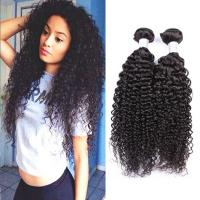 China Virgin Kinky Curly Hair 7A Peruvain Human Hair Weave Extensions 3 Bundles on sale