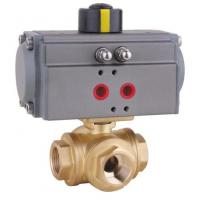 Quality Brass 3 way Ball Valve with Pneumatic Actuator wholesale