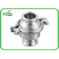 Quality Portable Clip - On Sanitary Check Valve With Clamp Connection End , Finely Finished Surface wholesale