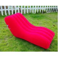 Quality Pink Outdoor PVC Modern Inflatable Furniture Office Blow Up Sofa wholesale
