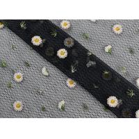 Quality Daisy Multi Colored Lace Fabric For Flower Mesh Dress Customized Up to 12 Colors wholesale