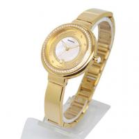 China IP Gold Plating Fashion Ladies Fashion Watches , jewelry wrist watch Diamonds 34.0mm on sale