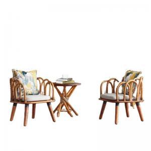 Quality SNUGLANE 42cm Height Rattan Wicker Coffee Table , Rattan Patio Side Table wholesale