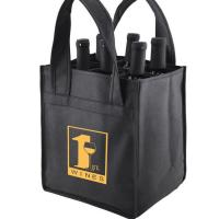 China Reusable Non Woven Wine Bags Six Bottle Wine Tote For Promotional Gift on sale
