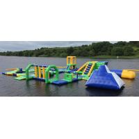 Quality Lake Floating Inflatable Water Park / Inflatable Water Games For Adults And Kids wholesale