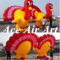 Quality attractive giant 13ft double inflatable turkey decoration for advertising in Thanksgiving Day wholesale