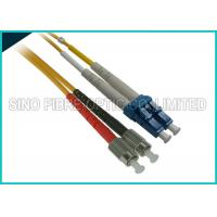 Quality Duplex Singlemode Fiber Optic Assembly LC to LC Patch Cord 3 Foot Length wholesale